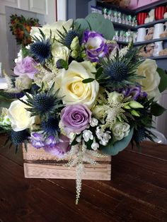 Bridal bouquet from our Scottish themed wedding x