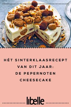This year's Sinterklaas recipe: the gingerbread cheesecake - Dessert Recipes Cheesecake Desserts, Köstliche Desserts, Delicious Desserts, Sweet Recipes, Cake Recipes, Dessert Recipes, I Love Food, Good Food, Yummy Food