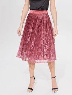 Fustă plisată cu dantelă, MOHITO, XJ216-MLC Pleated Skirt, Midi Skirt, This Or That Questions, Lady, Skirts, Fashion, Pleated Skirt Outfit, Moda, Skirt