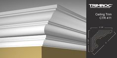 Capture the charm of traditional plaster mouldings with TRIMROC Interior Moulding. We have crown moulding, coffered ceilings, beams, and light coves. Wall Molding, Interior, Coffered Ceiling, Molding, Plaster Walls, Cornice, Ceiling Design, Renovations, Door Molding