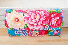 bright flowers wallet