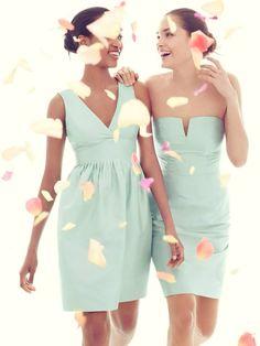 94e8f7826ae Mint Bridesmaid Dresses  like the one on the left. The Paisley Petunia
