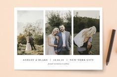 """maybe im amazed"" - Minimalist, Simple Save The Date Cards in Slate by Bella Carta Boutique."