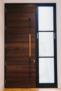 Furniture Design Door wood + steel modern door handle | skylar morgan furniture + design