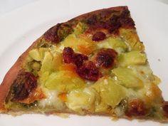 En verden af smag!: Pizza med Pesto, Chorizo og Kartoffel