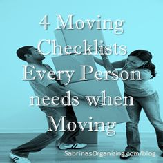 Moving? Tips and tricks with moving checklists that will reduce the stress of your move.