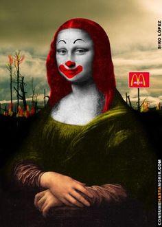 Ronald McDonald Mona Lisa