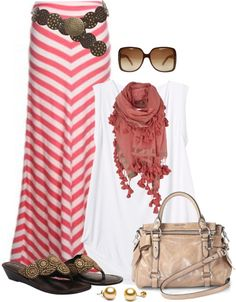 35 Pretty Maxi Skirt Outfits Polyvore Combinations This Summer - Be Modish