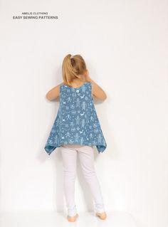 Name: 'Sewing : PDF Tunic pattern - girls blouse Simple Outfits, Kids Outfits, Sewing Patterns For Kids, Pdf Patterns, Tunic Pattern, Girls Blouse, Retro Shirts, Diy For Girls, Fashion Kids