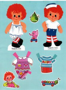 Raggedy Ann and Raggedy Andy Paper Dolls