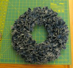awesome rag wreath tutorial  http://afishwholikesflowers.blogspot.com/2012/06/from-rags-to-wreath.html