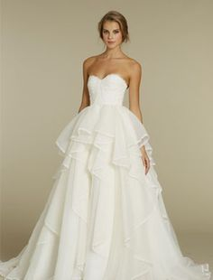 Hayley Paige - Sweetheart Ball Gown in Organza