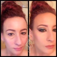 Before and After Makeup by @AliciaIsis77