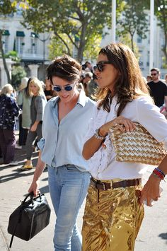 the-27th-avenue:  fashion-streetstyle:  (via Viviana Volpicella & Garance Doré, Paris - TrendycrewTrendycrew)  Q'd More Here xIG : rasyalaras