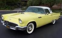 1957 Ford Thunderbird, Yellow with White Removable Hardtop.