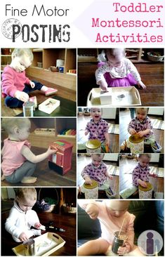 Fine motor posting toddler Montessori activities. Mostly because I'm always looking for stuff she can keep herself busy with.