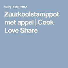 Zuurkoolstamppot met appel |       Cook Love Share