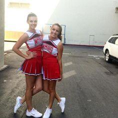 2 new Cheerios. Great Tv Shows, Old Tv Shows, Glee Cheerios, Glee Season 6, Glee Cast, Athletic Women, Cheerleading, Cheer Skirts, Halloween Costumes