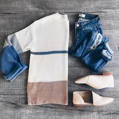 Flat lay, outfit, JessaKae, fashion, style, women's style, sweater