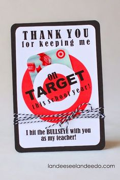 I think my teacher friends would agree. Teacher Gift Idea: Printable Target Gift Card Holder // a teacher appreciation gift a teacher would actually want! Cute Gifts, Diy Gifts, Handmade Gifts, Funny Gifts, Diy Spring, Teacher Treats, Teacher Cards, Teacher Presents, Swim Teacher Gifts
