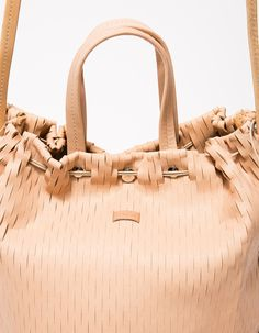 Net Bucket Bag in Nude from irose