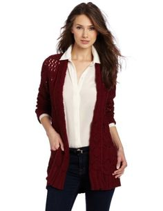 Lucky Brand Women's Huntington Sweater, Eastern Red, X-Small Lucky Brand. $64.99. Two front pockets. Made in China. Dry Clean Only. No closures. 100% cotton. Save 34% Off!