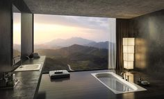 Minimal bathroom with sunken bathtub [Rendering][2000  1213]