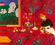 Matisse The Dessert - Harmonie In Red oil painting reproduction on canvas