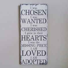 Adoption Wood Sign  Adoption Gift  Baby Gift  by HamptonsNook