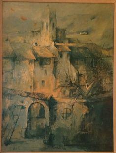 Felix Felmart Original Oil Painting Mid Century Vintage  by USANOW