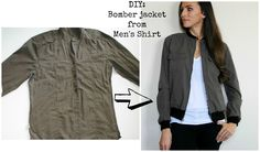 Refashion a Men's Shirt into a Bomber Jacket