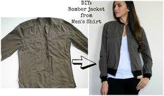 Refashion a Men's Shirt into a Bomber Jacket