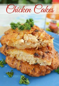 Delicious Chicken filling in a scrumptious Potato & Carrot mixture - fried to perfection (any cooked Chicken can be used, leftover, rotisserie etc) Leftover Chicken Recipes, Turkey Recipes, Fish Recipes, Dinner Recipes, Chicken Cake, Chicken Menu, Rotisserie Chicken, Chicken Patties, Chicken Croquettes