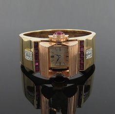 1950-s-Retro-THM-4-5ct-Ruby-0-30ct-Dia-14K-Y-Rose-Gold-Glycine-Bangle-Watch