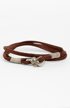 Caputo & Co Leather Wrap Bracelet available at #Nordstrom