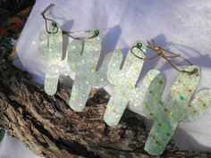 Texas Lights Catus Ornaments by InspriationWorkshop on Etsy, $12.00