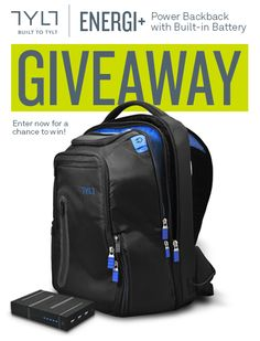 We're giving away an ENERGI+ Backpack with a built-in battery! Head over to http://ty.lt/1BeRnlu to enter for your chance to win today! One random winner will be selected on July 1st, 2015. #giveaway