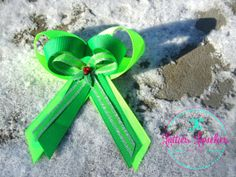 Hair Bow Girls Baby Christmas Holiday by LottiesLoveliesBows, $3.99