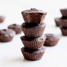 Dark Chocolate Peanut Butter Fudge Cups | Forher