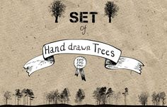 Set of trees by cat_arch_angel on Creative Market