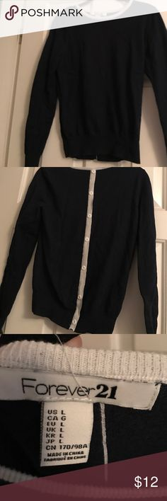 Blue sweater from forever 21 Never worn blue sweater youth large fits like an adult small Forever 21 Sweaters Crew & Scoop Necks