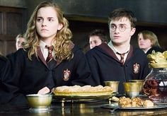 The Cursed Child delves into what happened to Harry's parents — Lily Evans Potter and James Potter — before they were killed by Lord Voldemort, forcing an infant Harry to be raised in miserable circumstances by his mother's sister, Petunia, her horrid husband Vernon and their spoilt son Dudley. Above Daniel Radcliffe and Emma Watson in The Order Of The Phoenix film