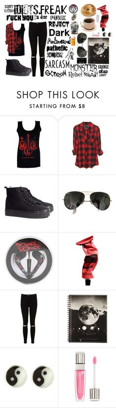 """Untitled #329"" by dyingflowers on Polyvore featuring H&M, Ray-Ban, Aesop, Miss Selfridge, Sharpie and Lancôme"