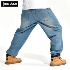 Promotion price 2015 Famous Brand Mens Hip Hop Baggy Pants Denim Jeans Trousers Loose Skateboard Pants for Men 30-42 FS4975 just only $29.59 - 33.59 with free shipping worldwide  #jeansformen Plese click on picture to see our special price for you