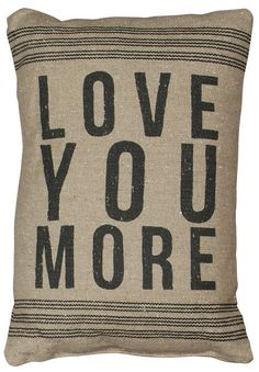 Rustic Love You More (D) Accent Throw Pillow