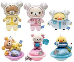 Rilakkuma in Space - Super Cute Kawaii! Rilakkuma Plushie, Plushies, Sanrio Characters, Cute Characters, Softie Pattern, Cute Stuffed Animals, Cute Clay, Kawaii Shop, Retro Toys