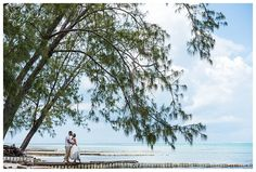 cayman islands wedding couple at Rum Point