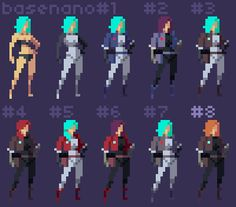 This pixel art will be the target visual style for the 2D game.