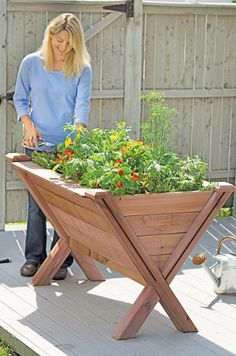 Garden Wedge - Elevated Bed for Apartment Gardening   Made in USA