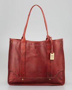 Campus Leather Shopper Bag, Burnt Red by Frye at Neiman Marcus.